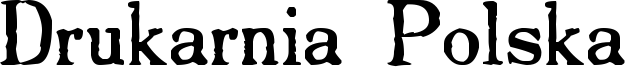 Drukarnia Polska Font