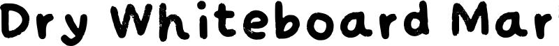 Dry Whiteboard Marker Font