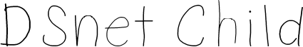DSnet Child Font