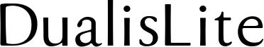 DualisLite Font