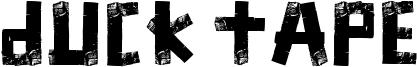 Duck Tape Font