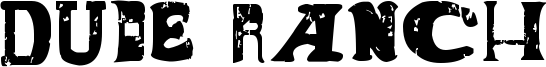 Dude Ranch Font