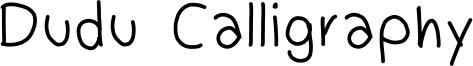 Dudu Calligraphy Font