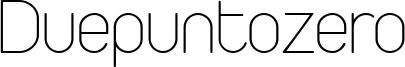 Duepuntozero Font