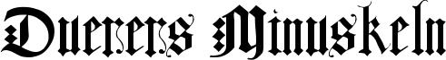 Duerers Minuskeln Font