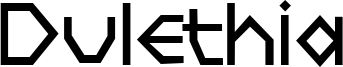 Dulethia Font