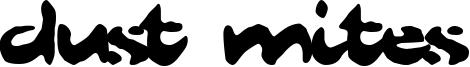 Dust Mites Font