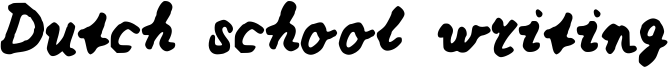 Dutch school writing Font