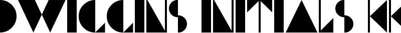 Dwiggins Initials KK Font