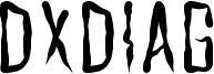 Dxdiag Font