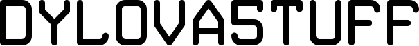 Dylova5tuff Font