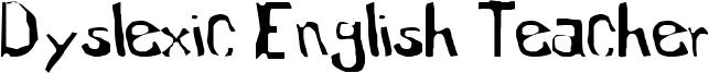 Dyslexic English Teacher Font