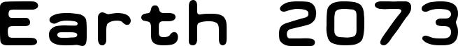 Earth 2073 Font