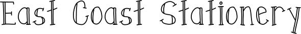 East Coast Stationery Font