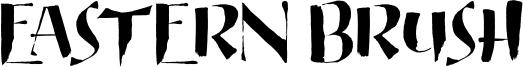 Eastern Brush Font