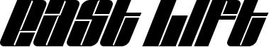 East Lift Font