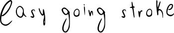 Easy going stroke Font