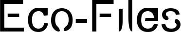 Eco-Files Font