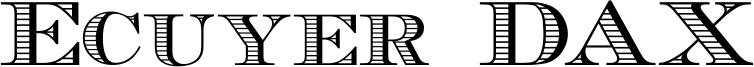 Ecuyer DAX Font