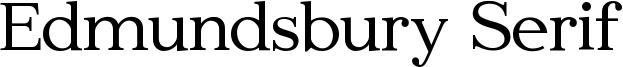 Edmundsbury Serif Font