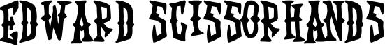 Edward Scissorhands Font