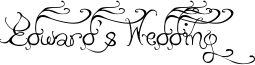 Edward's Wedding Font