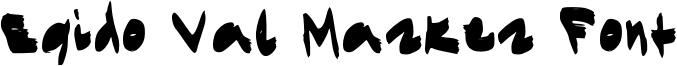 Egido Val Marker Font Font