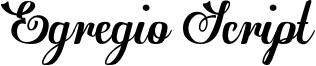 Egregio Script Font