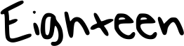 Eighteen Font