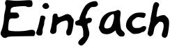 Einfach Font