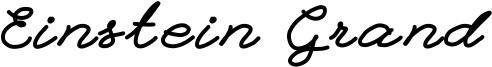 Einstein Grand Font
