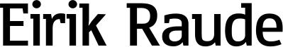 Eirik Raude Font