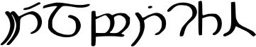 Elbisch Font