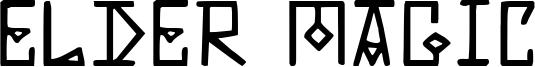 Elder Magic Font
