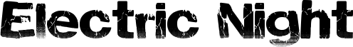 Electric Night Font