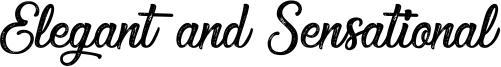 Elegant and Sensational Font