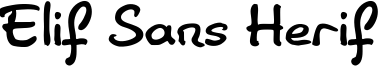 Elif Sans Herif Font