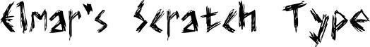 Elmar's Scratch Type Font