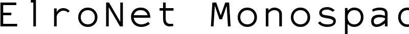 ElroNet Monospace Font
