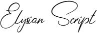 Elysian Script Font