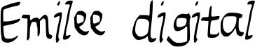 Emilee digital Font