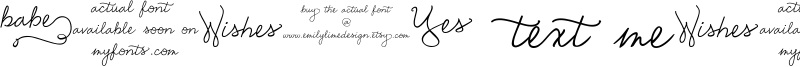 Emily Lime Words Font