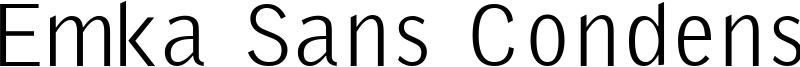 Emka Sans Condensed Font