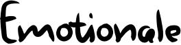 Emotionale Font