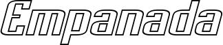 Empanada Extended Outline Italic.otf