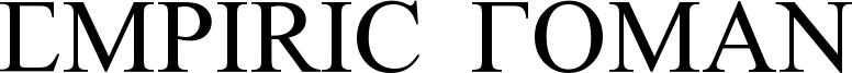 Empiric Roman Font
