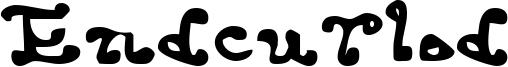 Endcurled Font