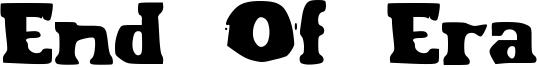 End Of Era Font