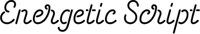 Energetic Script Font