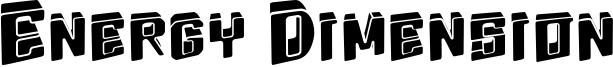 Energy Dimension Font